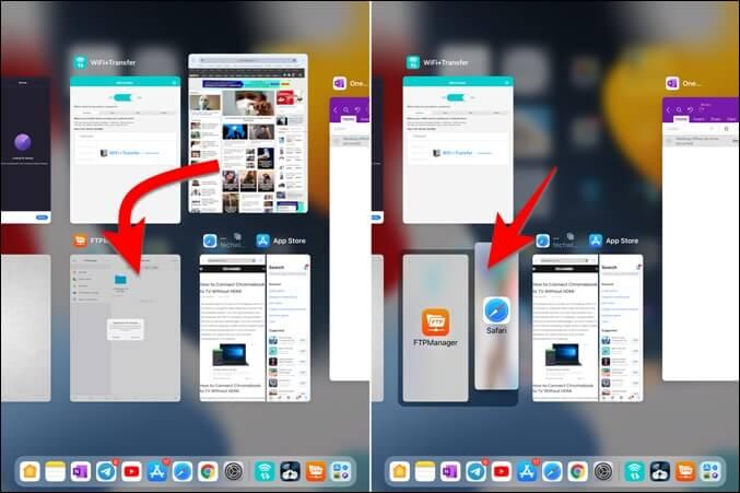 Tạo màn hình chia nhỏ trong trình chuyển đổi ứng dụng iPad