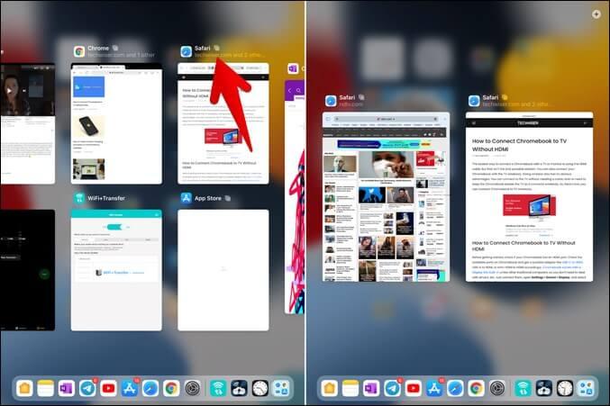 Giá đỡ iPad đa nhiệm từ Trình chuyển đổi ứng dụng