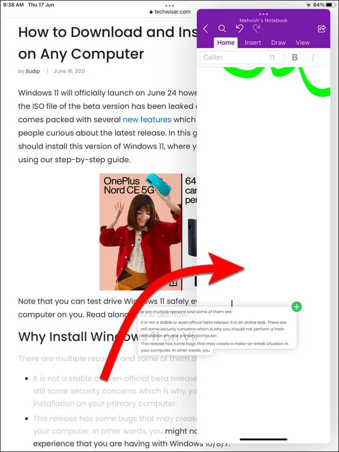 Kéo hình ảnh văn bản giữa các ứng dụng Ipad