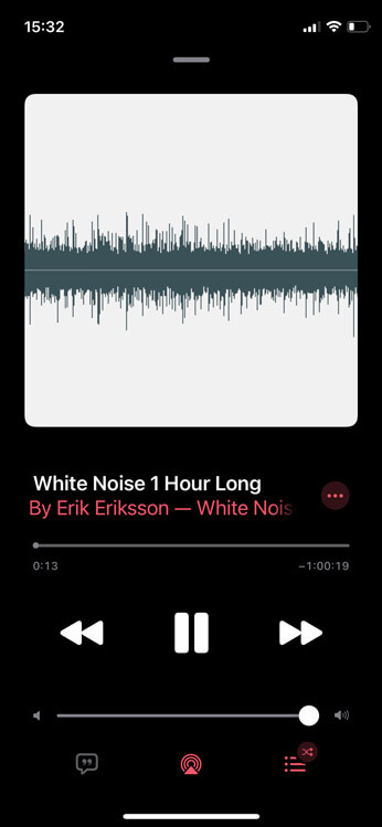 tiếng ồn trắng trên apple music