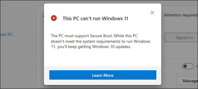 máy tính này không thể chạy lỗi windows 11