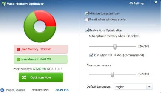 Wise Memory Optimizer (Một phần mềm dọn dẹp RAM được thiết kế đẹp mắt dành cho Windows)