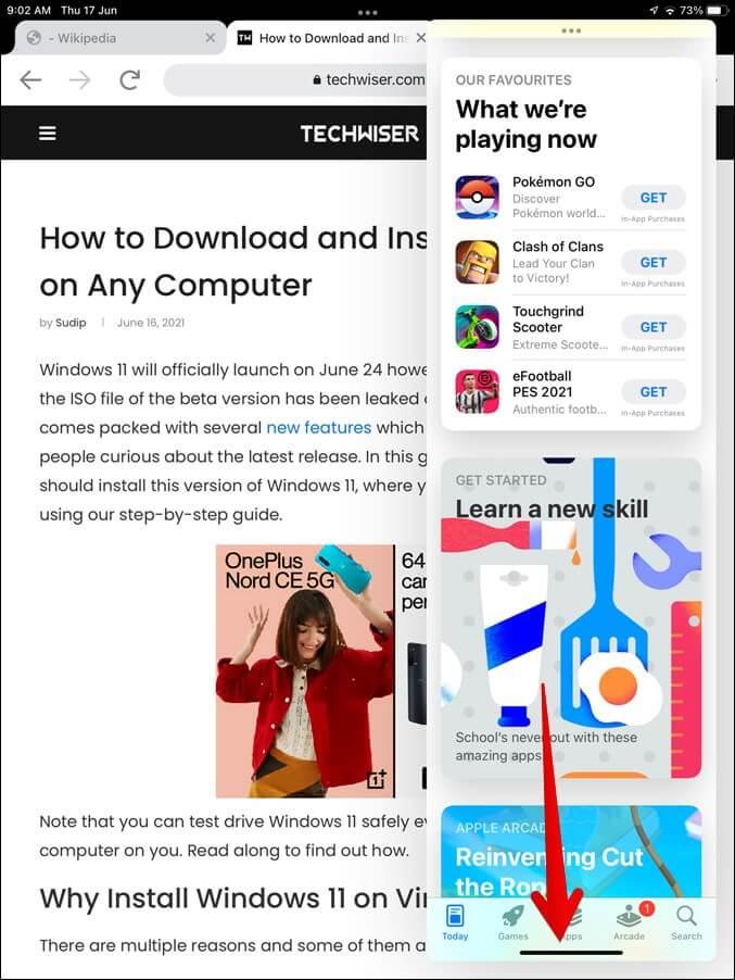 Hoán đổi ứng dụng trong Chế độ xem chia đôi màn hình iPad