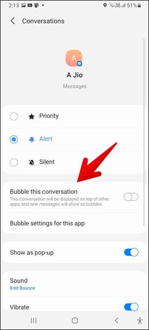 Samsung Bubble Cuộc trò chuyện này