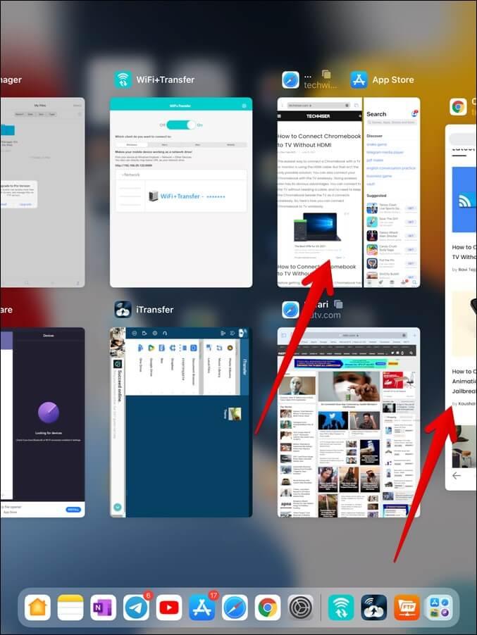 Xem các ứng dụng đa nhiệm trong Trình chuyển đổi ứng dụng iPad