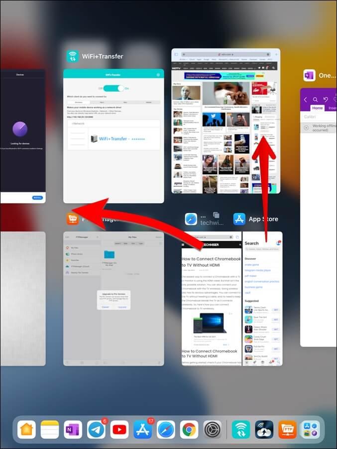 Xóa Ứng dụng khỏi Trình chuyển đổi ứng dụng iPad