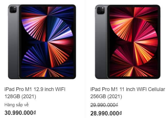 Giá iPad Pro