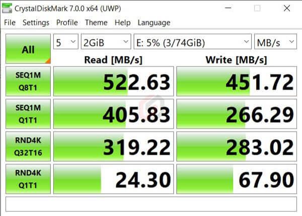 Mi Notebook 14 CrystalDiskMark (e-Learning Edition)