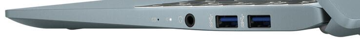 Cạnh phải: kết hợp âm thanh, 2x USB 3.2 Gen 2 (Loại A)