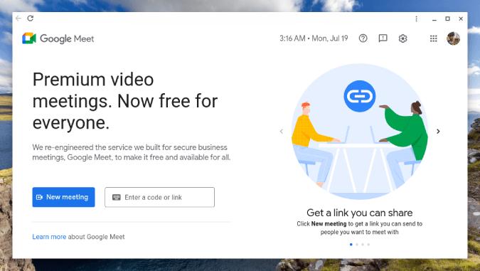 Ứng dụng web Google Meet đã cài đặt