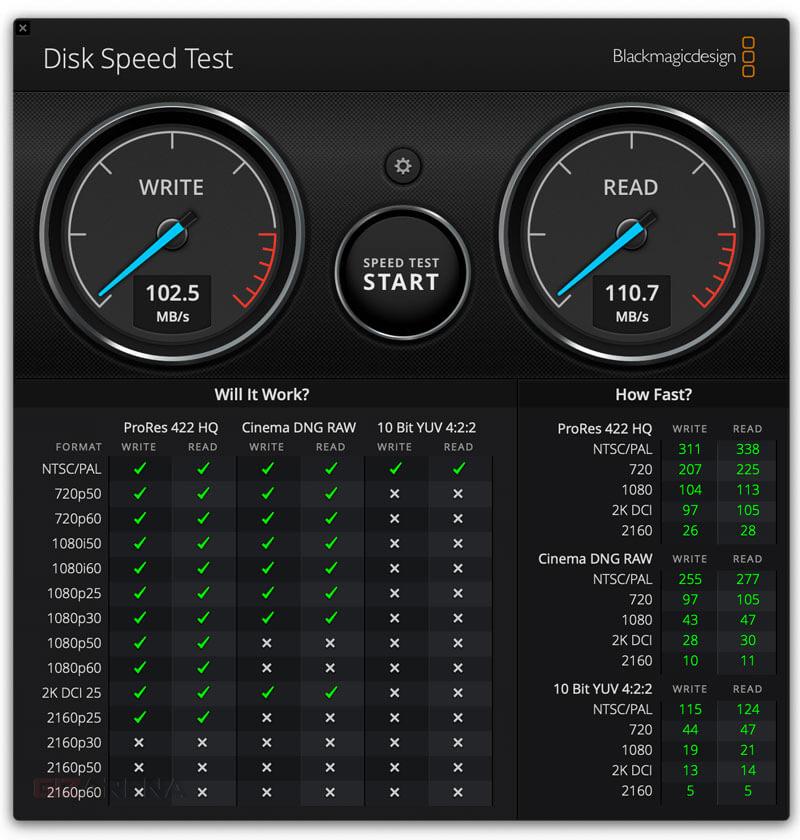 Kiểm tra tốc độ đĩa Blackmagic