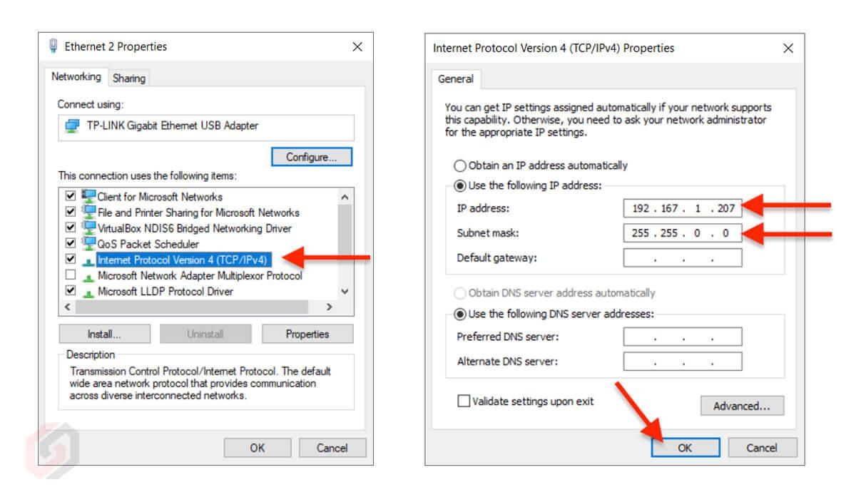 Địa chỉ IP tĩnh trong Windows