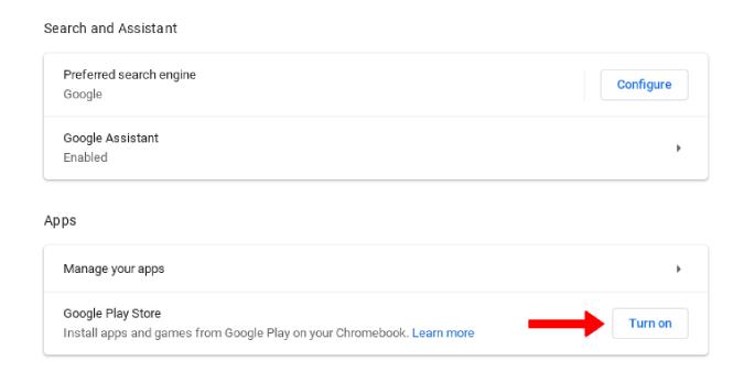 Bật Cửa hàng Play trên Cửa hàng Google Play