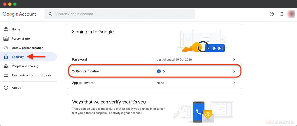 Thêm YubiKey vào Tài khoản Google