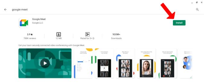 Cài đặt ứng dụng Google Meet từ Cửa hàng Play
