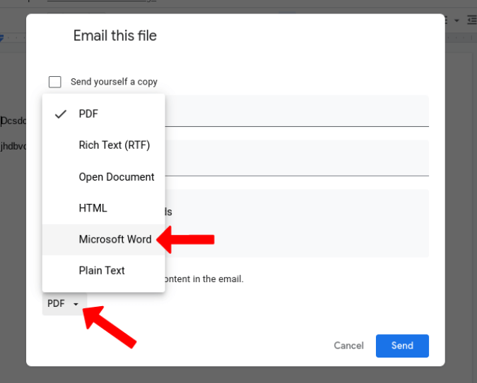 Gửi Google Tài liệu dưới dạng Microsoft Word trên Gmail
