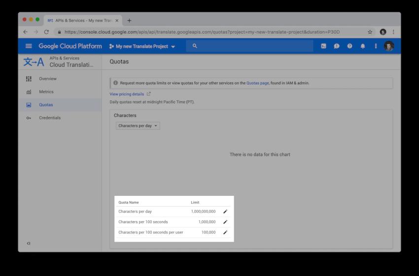 Google Cloud cho phép chúng tôi giới hạn việc sử dụng các API mà chúng tôi thực hiện để kiểm soát mức tiêu thụ tối đa mà chúng tôi muốn trả cuối cùng.