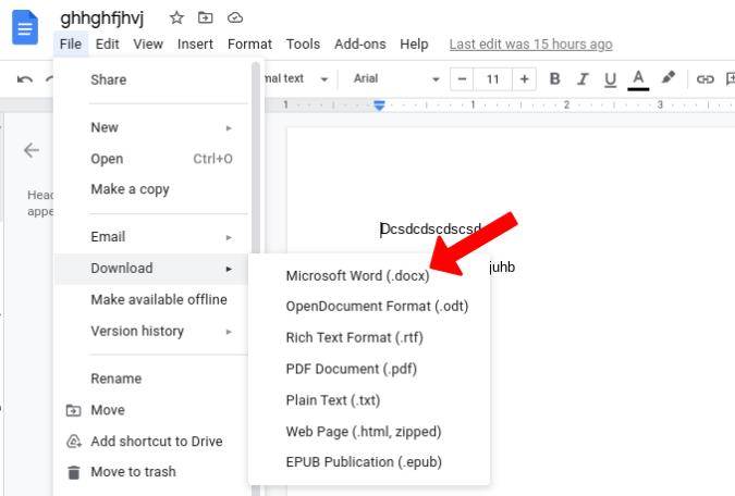 Tải xuống Google Tài liệu và Microsoft Word