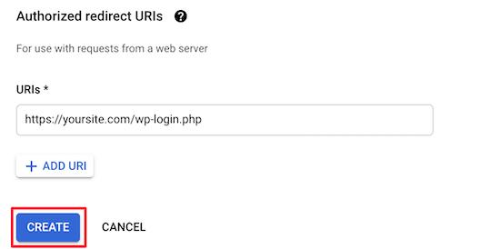Thêm URL chuyển hướng