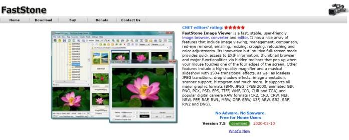 Phần mềm xem ảnh FastStone dành cho HĐH Windows 11