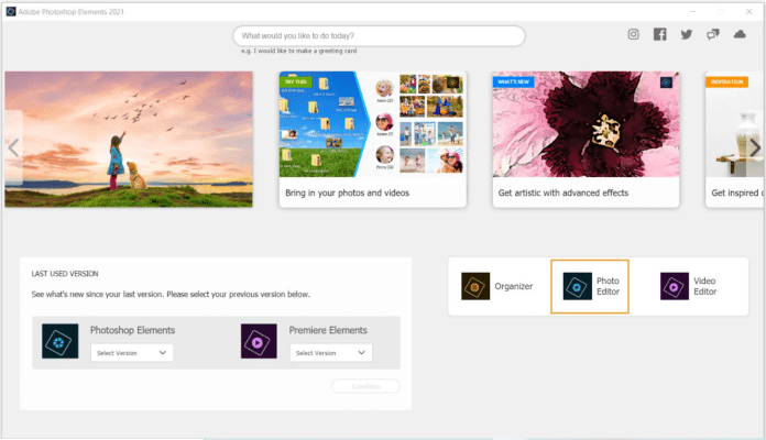 Phần mềm xem ảnh tốt nhất cho Windows 11 Adobe Photoshop Elements