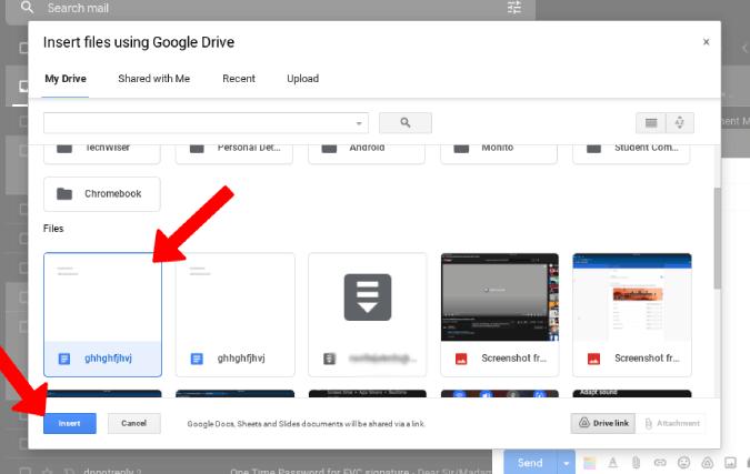 Đính kèm Google Tài liệu trên Gmail