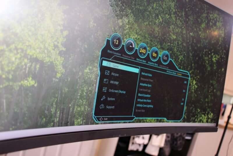 Samsung Odyssey Neo G9 OSD