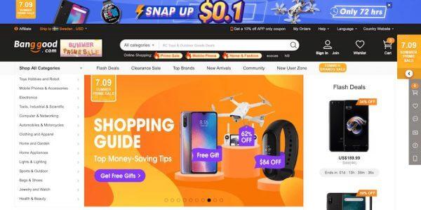 mua sắm trực tuyến Banggood đánh giá