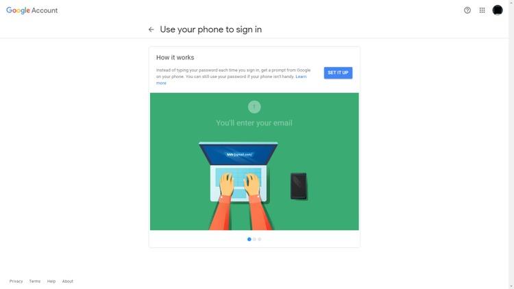 Lời nhắc của Google nhấp vào THIẾT LẬP