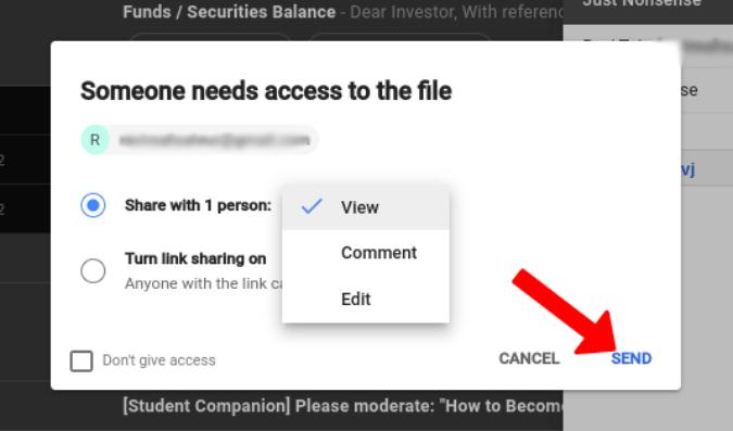 Cấp quyền cho Google Tài liệu trên Gmail