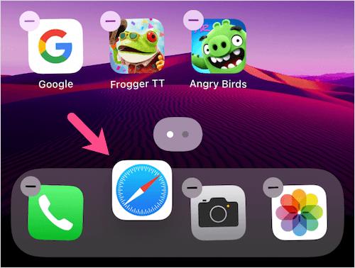 lấy lại safari trên đế cắm iPhone