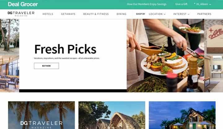 Trang web mua sắm trực tuyến Philippines: DealGrocer