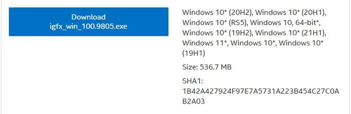 Tải xuống trình điều khiển Intel Iris Plus Graphics 655