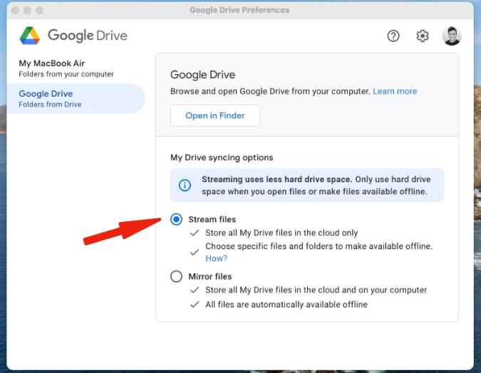 truyền trực tuyến tệp google drive trên mac