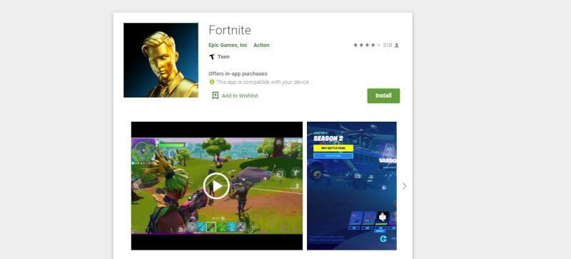 cửa hàng chơi fortnite google