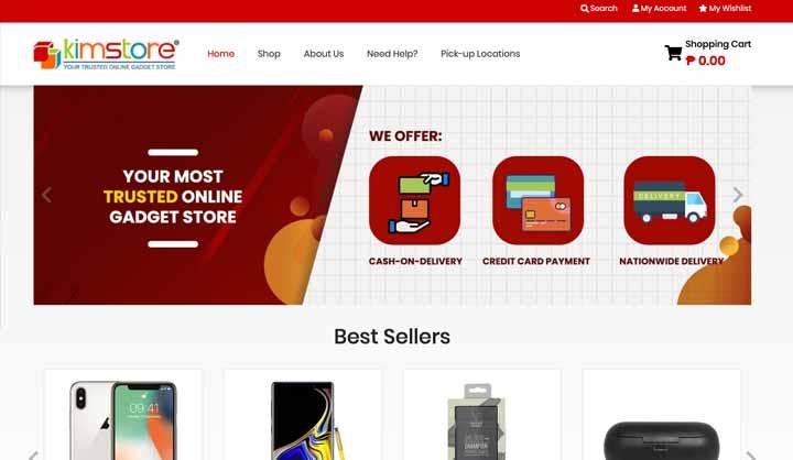 Trang web mua sắm trực tuyến: Kimstore
