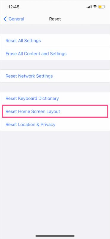 khôi phục màn hình chính mặc định trong iOS 14