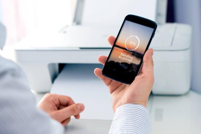 Bạn nên sử dụng kiểu máy tương ứng với NFC hoặc AirPrint
