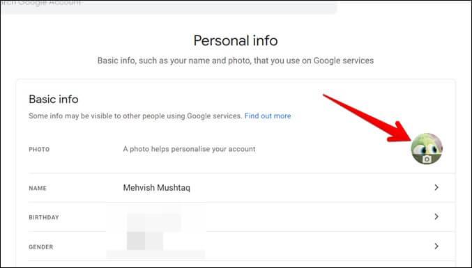 Google Chrome Thay đổi hình ảnh tài khoản