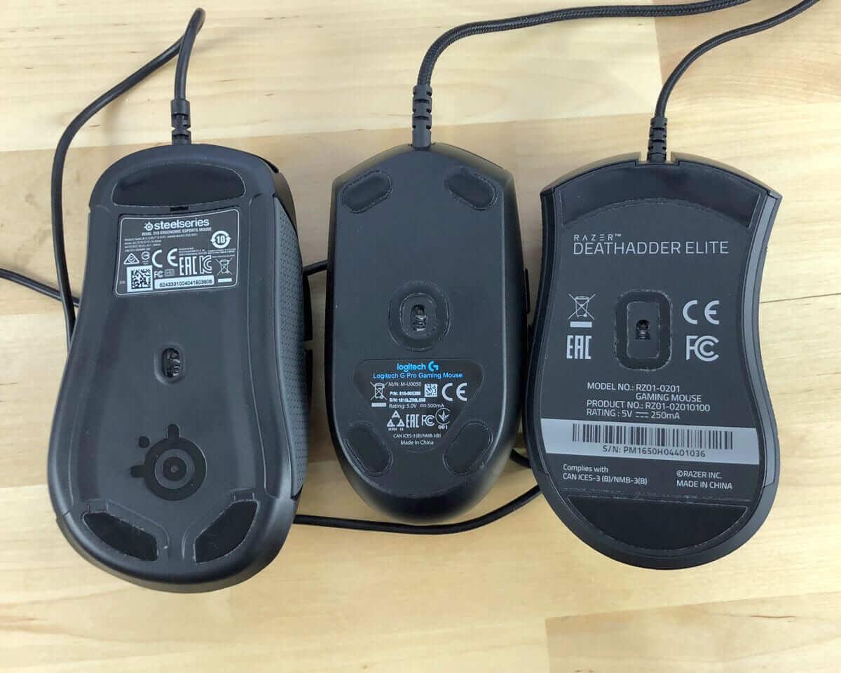Các loại mousefeet khác nhau