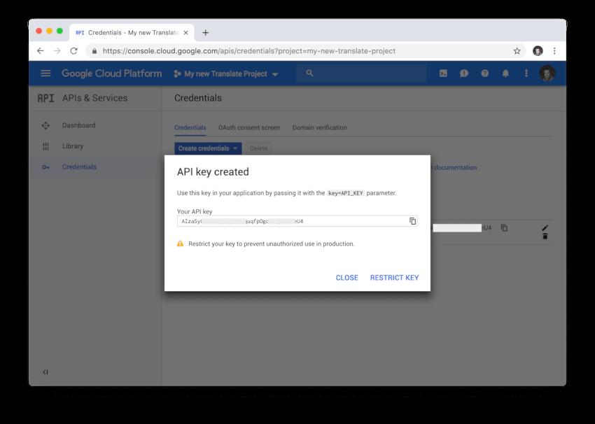 Google Cloud cung cấp cho chúng tôi một API khóa mới để sử dụng Google Dịch với các ứng dụng bên thứ ba của chúng tôi.