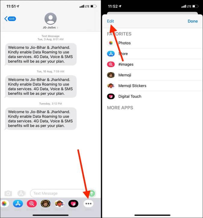 Chỉnh sửa biểu tượng khác trong ứng dụng Tin nhắn trên iPhone