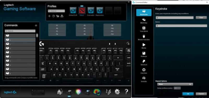Phần mềm chơi game của Logitech - Remap các phím trên bàn phím
