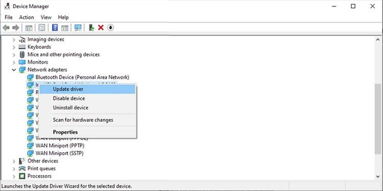 Trình quản lý thiết bị trong Windows 10