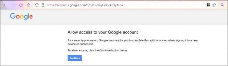 Bật lại Quyền truy cập Tài khoản Google