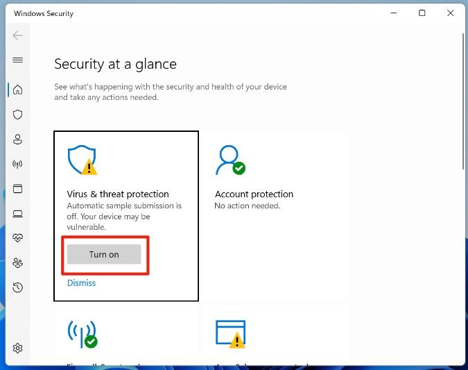 chạy bảo mật windows