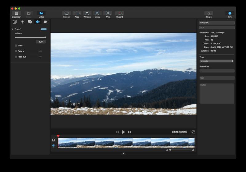 Ứng dụng ghi màn hình Capto Mac