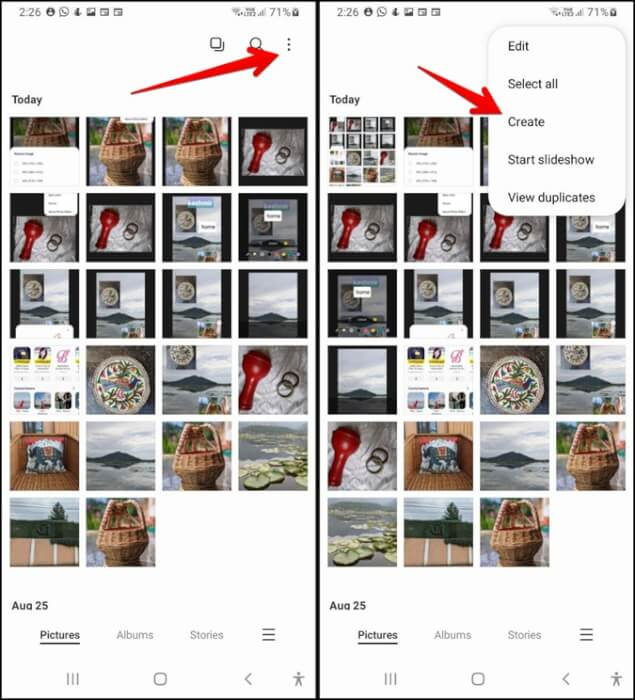 Samsung Gallery Tạo ảnh ghép GIF