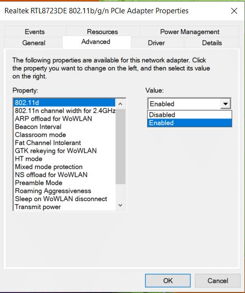 Ở phía bên phải, thay đổi giá trị thành Đã bật và nhấp vào Ok.  PC không hỗ trợ Miracast