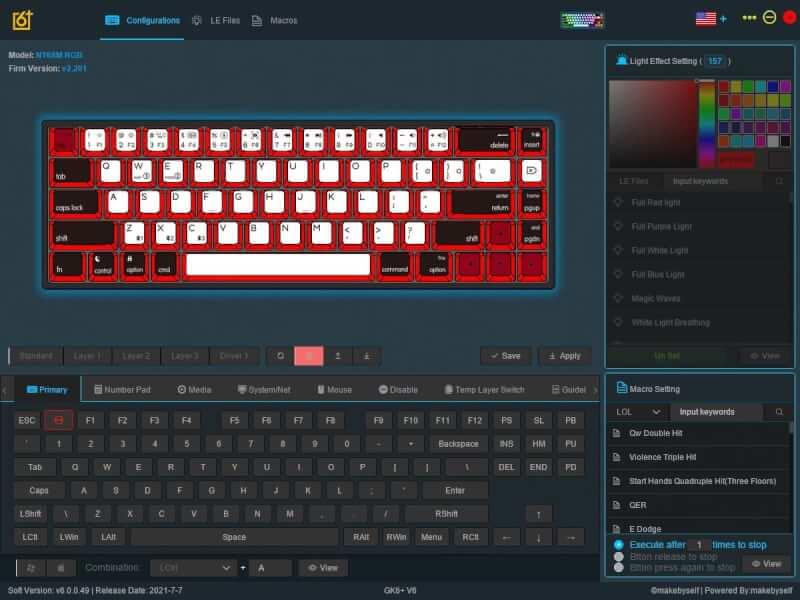 Epomaker NT68 - Phần mềm